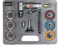 Миниатюрная угловая пневмошлифмашинка Suntech SM-562K. Кейс + расходники.