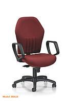 Стильное кресло для офиса - Модель 383GR натуральная кожа