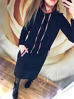 Худи (платье) женское на флисе , фото 1