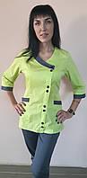 Женский медицинский коттоновый костюм Китай три четверти рукав