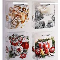 """Пакет подарочный бумажный """"Новогодняя композиция"""" 12шт/уп 31*40*12см R87418"""