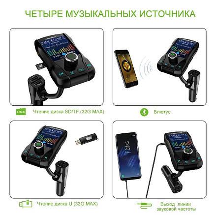 Автомобільний Bluetooth FM-модулятор Onever FM 39, фото 2