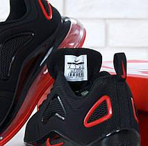 Кроссовки мужские Найк Nike Air Max 720 Black/Red. ТОП Реплика ААА класса., фото 2