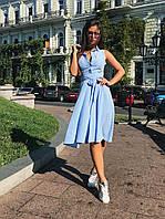 Платье-полоска голубое, арт.1009, фото 1