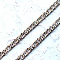 Цепочка металлическая плоская крупная Z11-1, цвет никель