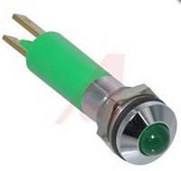 Индикатор светодиодный 8 мм зеленый 24 AC/DC 19080355