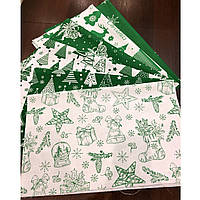 Набор тканей для пэчворка «New Year green»
