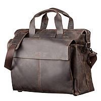 Большая мужская сумка SHVIGEL 11119 кожаная Коричневая, фото 1