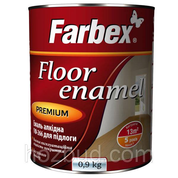 Емаль алкідна ПФ-266 для підлоги Farbex золотисто-коричнева 0,3 кг