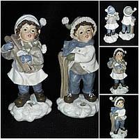 """Красивая елочная игрушка """"Ретро детки"""", материал - поликерамика, выс. 15 см., 110 гр., фото 1"""