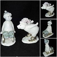 """Игрушка елочная """"Белые медведи"""" из поликерамики, выс. 10.5 см., 95 гр., фото 1"""