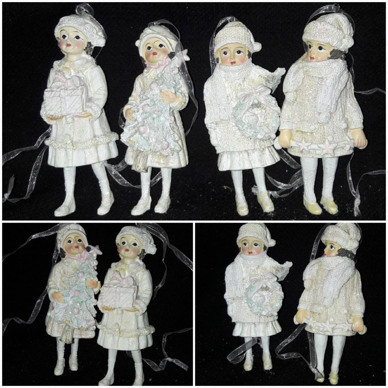 """Новогодняя подвеска """"Детки"""" из поликерамики, выс. 11 см., 95 гр."""