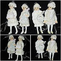 """Новогодняя подвеска """"Детки"""" из поликерамики, выс. 11 см., 95 гр., фото 1"""