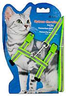 Шлейка для кота 24-10-1, 10 мм*120+20/30+25/40 см