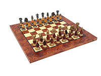 Эксклюзивные шахматы из дерева и латуни 151BW+721R