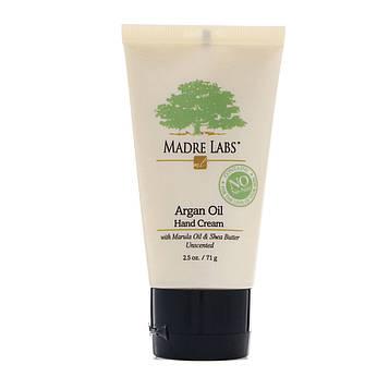 Madre Labs, Крем для рук с маслом арганы, дополнительно содержит масло марула и кокоса, а также масло ши, успокаивает, без ароматизаторов, 2.5 унции,