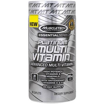 Muscletech, Essential Series, платинум мультивитамин, 90 таблеток
