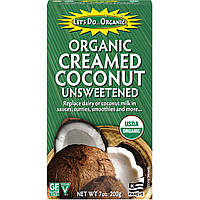 Edward & Sons, Edward & Sons, Lets Do Organic, Organic Creamed Coconut, Unsweetened, 7 oz (200 g)