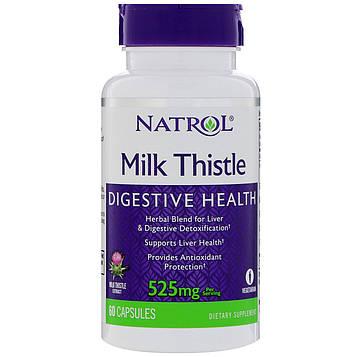 Natrol, Расторопша, 525 мг, 60 капсул