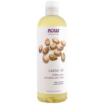 Now Foods, Now Foods, Solutions, касторовое масло (Castor Oil), 16 унций (473 мл)