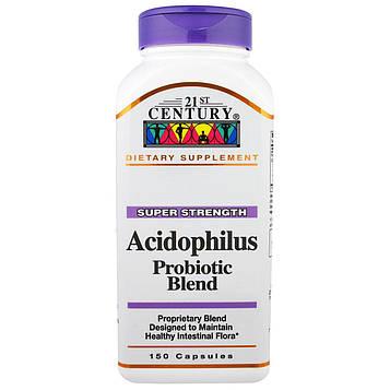 21st Century, Ацидофилин пробиотическая смесь, 150 капсул