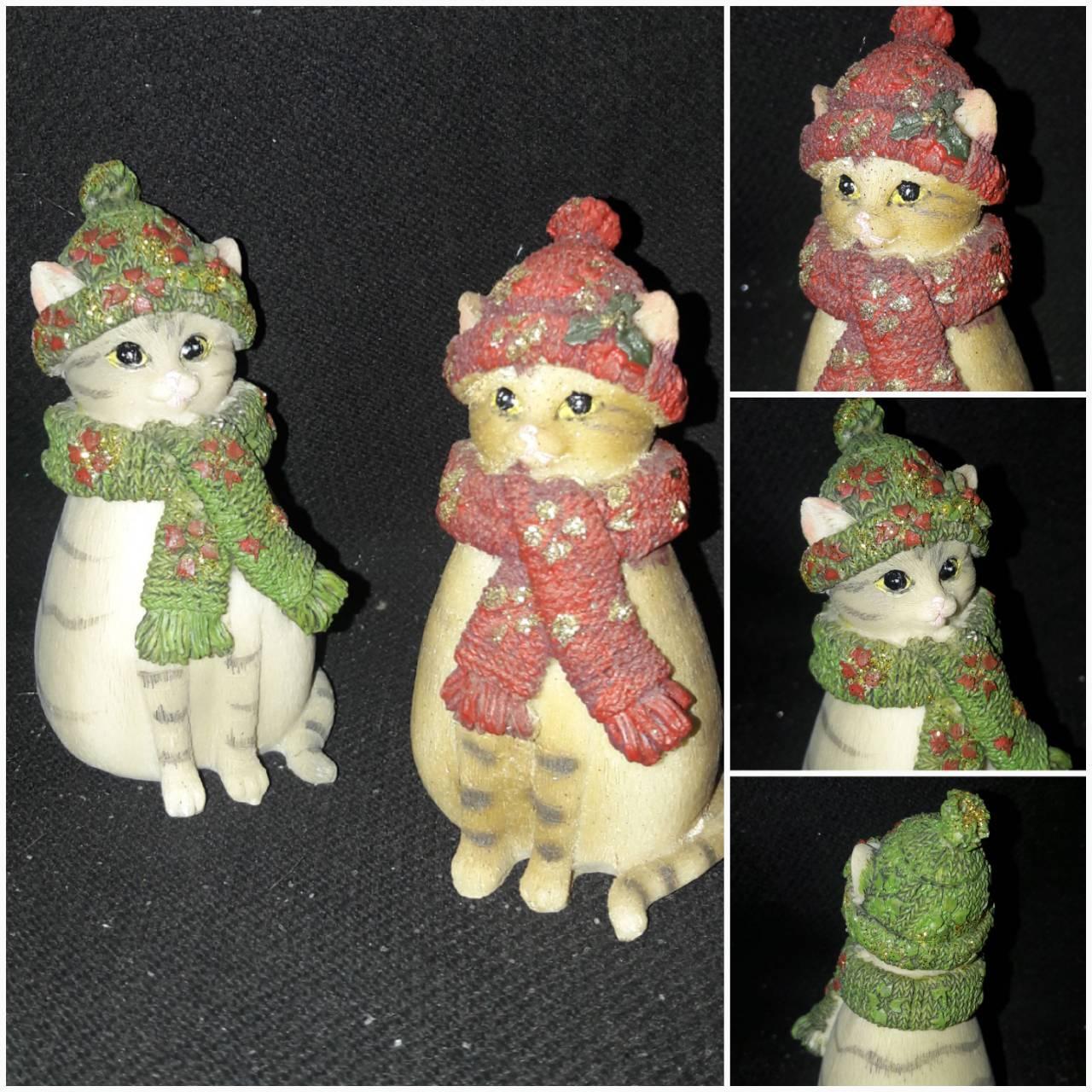 Красивый котик в шапке, материал - поликерамика, выс. 9.5 см., 95 гр.