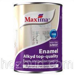 """Емаль алкідна високоякісна ТМ """"Maxima"""" сіра 0,9 кг"""