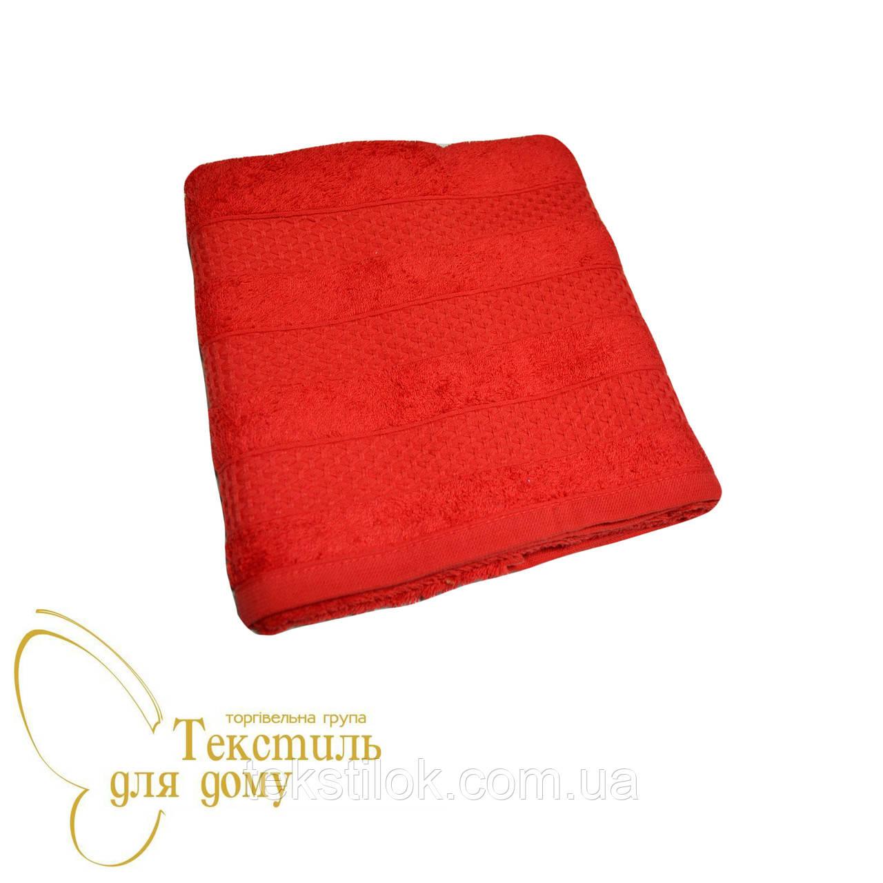 Полотенце лицевое 50*100, красный