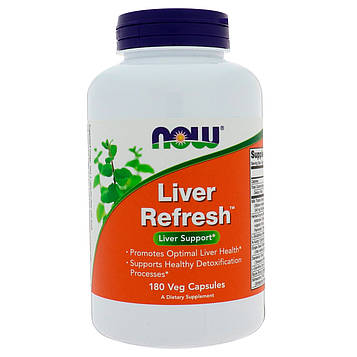 Now Foods, Liver Refresh, 180 вегетарианских капсул