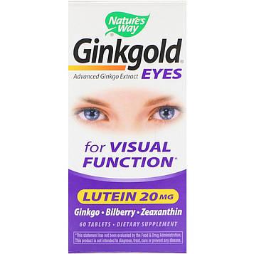 Natures Way, Ginkgold Eyes, 60 таблеток