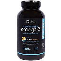 Sports Research, Омега-3, Утроенная Сила, 1250 мг, 180 Желатиновых капсул