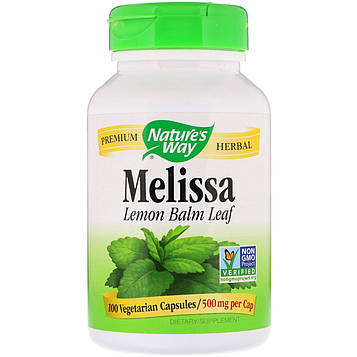 Natures Way, Melissa, 500 mg, 100 Vegetarian Capsules
