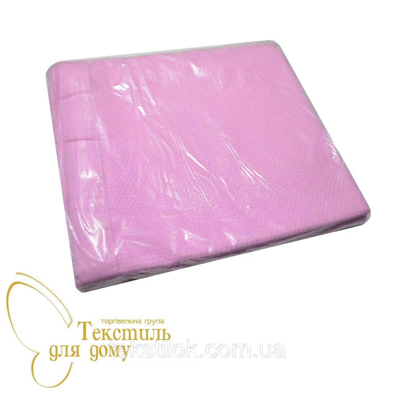 Простынь однотонная, вафельное полотно, розовый