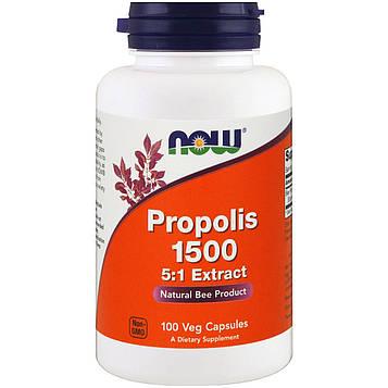 Now Foods, Прополис 1500, 300 мг, 100 вегетарианских капсул