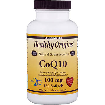 Healthy Origins, CoQ10 Желатиновые капсулы ( Kaneka Q10 ), 100 мг, 150 желатиновых капсул