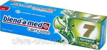 Зубная паста blend-a-med complete+ополаскиватель (травы), 100мл
