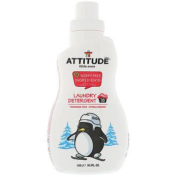 ATTITUDE, Little Ones, Моющее средство, без запаха, 35.5 жидких унций (1.05 л)
