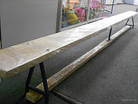 Лавка гимнастическая скамья, лава, 2м, 2,5м, 3м, 4м деревянная