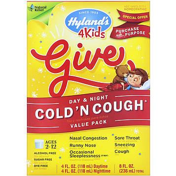 Hylands, Средство для лечения симптомов простуды у детей, 4 жидких унций (118 мл) в каждом флаконе – днем и ночью