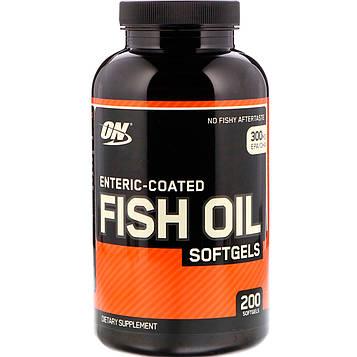 Optimum Nutrition, Кишечнорастворимый рыбий жир, 200 мягких капсул