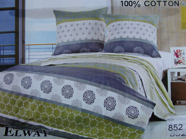 Сатиновое постельное белье полуторное ELWAY 852