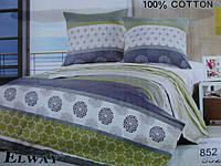 Сатиновое постельное белье полуторка ELWAY 852