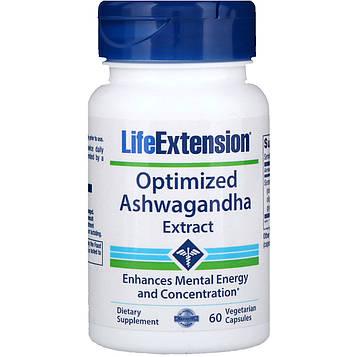 Life Extension, Оптимизированный экстракт ашвагандха, 60 капсул