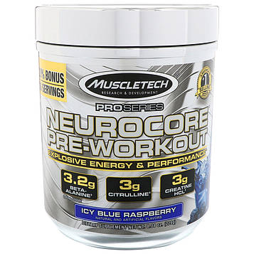 Muscletech, Pro Series, Nuerocore Pre-Workout, Icy Blue Raspberry, 8,08 унц. (229 г)