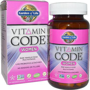 Garden of Life, Витаминный код, для женщин, 120 вегетарианских капсул
