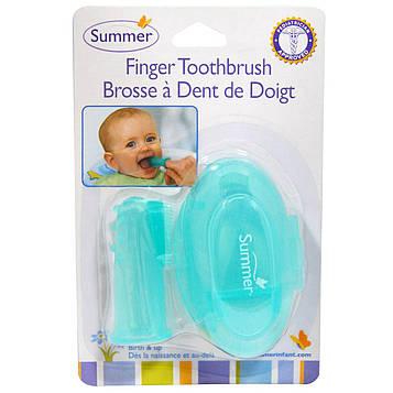 Summer Infant, Зубная щётка на палец с футляром