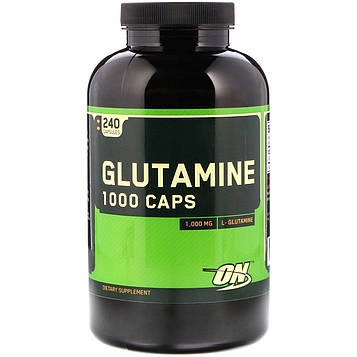 Optimum Nutrition, Глютамин 1000 капсул, 1000 мг, 240 капсул