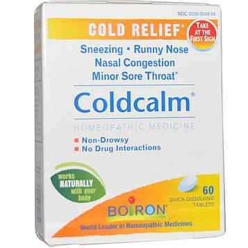 Boiron, Coldcalm, 60 быстрорастворимых таблеток