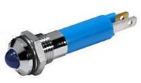 Индикатор светодиодный 8 мм синий 220 AC 19510437