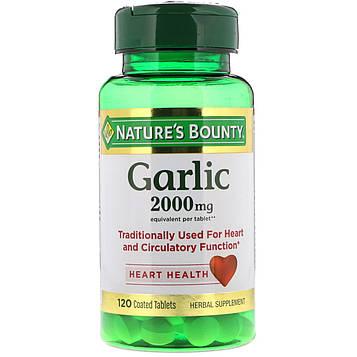 Natures Bounty, Чеснок, 2 000 мг, 120 таблеток в оболочке